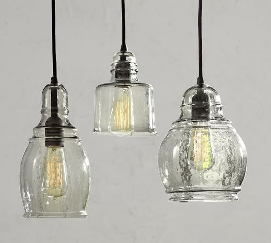 Paxton Glass 8 Light Pendant Kitchen Pendant Lighting Seeded