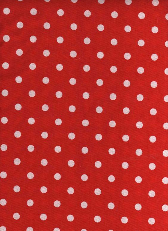 rode stof met witte polkadots