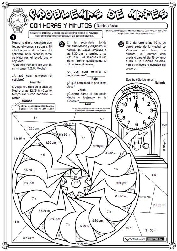 Problemas de matemáticas con situaciones en las que hay que calcular el tiempo transcurrido entre una situación y otra. Este tipo de problemas, muy difíciles de resolver por el alumnado, la metodología mediante el algoritmos ABN les facilita tremendamente su resolución. Puedes comprobar cómo resolver problemas con horas y minutos …