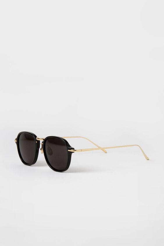 Linda Farrow Luxe Square Sunglasses Black