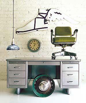 Desk of my dreams: A restored '50s Steel Tanker Desk