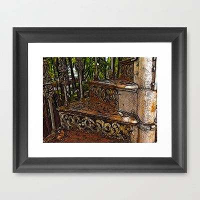 Step up Framed Art Print by F Photography and Digital Art - $35.00