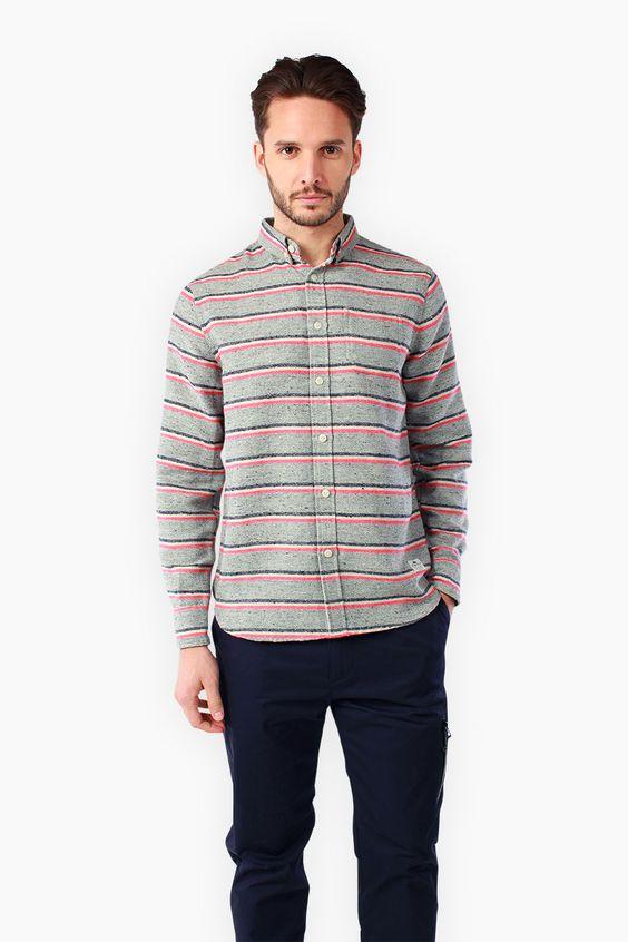 Penfield.com | Mens Hants Grey Shirt