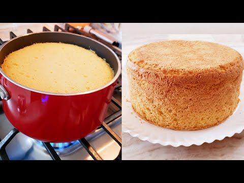 Bizcocho Para Pastel Cocinado Sobre La Estufa Lo Más Fácil Que Puede Haber Delicioso Y Tortas Sin Horno Pasteles Sin Horno Recetas De Postres Reposteria