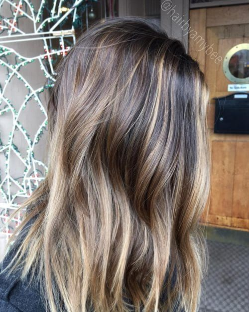 Dimensional Bronze Highlights For Dark Brown Hair Hair Highlights Dark Hair With Highlights Thick Hair Styles