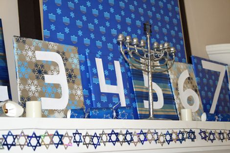 the Hannukah mantle, close up! | Nothing Like the Holiday's ...
