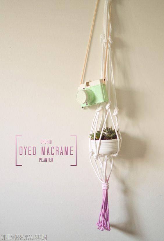 Orchid Dyed Macramé Planter - Vintage Revivals