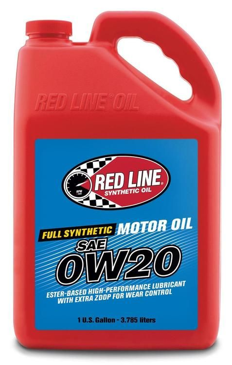 Red Line 0w20 High Performance Synthetic Motor Oil 1 Gallon In