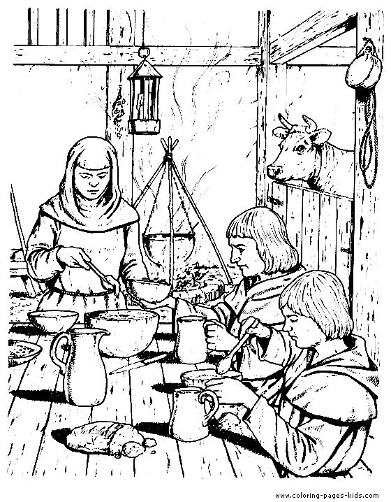 coloring pages middle ages - photo#16