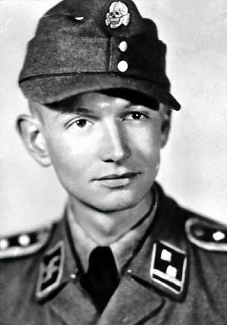 Portrait SS-Hauptscharführer Abel Chapy de la Waffen-Grenadier Brigade der SS Charlemagne (französische Nr. 1).
