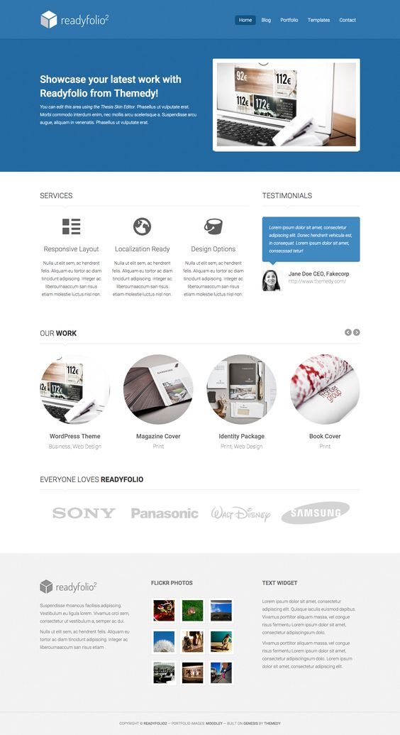Readyfolio theme