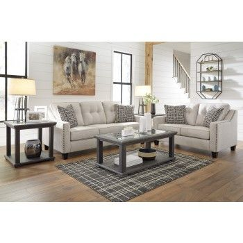 Marrero Fog Sofa Loveseat By Signature Design By Ashley Get Your Marrero Fog Sofa Loveseat At Pruitt S Living Room Sets Adams Furniture Furniture