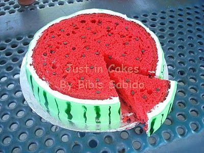 #watermelon velvet cake