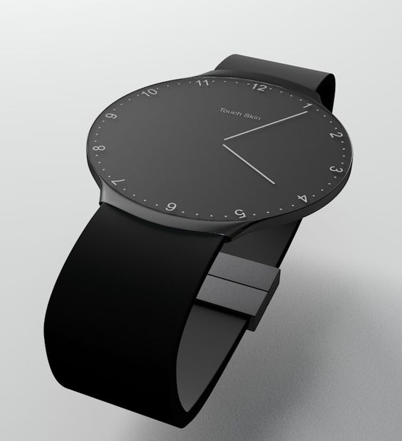 Touch Skin fits in neatly with existing gadgets and is thought of as an accessory that can follow you in all situations of your daily life. From the morning when you wake, customize the look of the watch to match your dress code with the build- in watch designs. If you are not satisfied you can always connect the watch to your computers Bluetooth and download new skins or design your own from the Touch Skin App