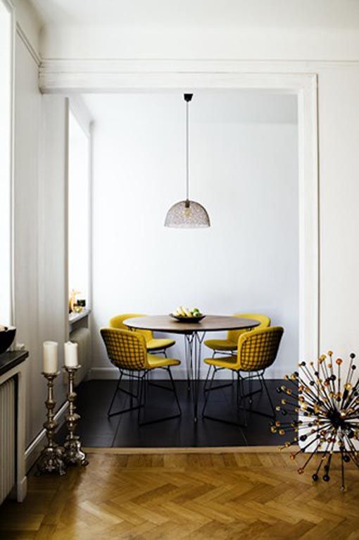 Pop of yellow for the breakfast nook.