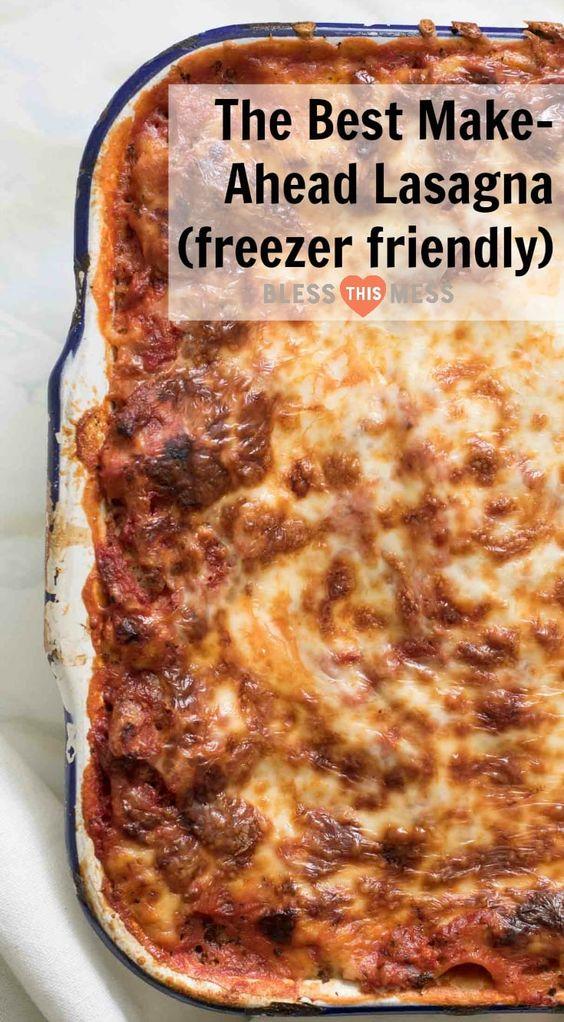 The Best Make-Ahead Lasagna (freezer-friendly too!)