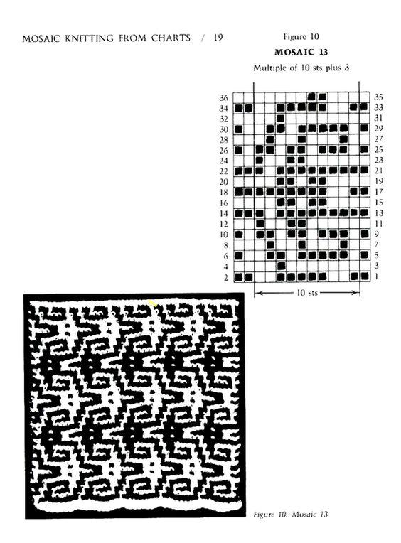 Mosaic Knitting Barbara G. Walker (Lenivii gakkard) Mosaic Knitting Barbara G. Walker (Lenivii gakkard) #24