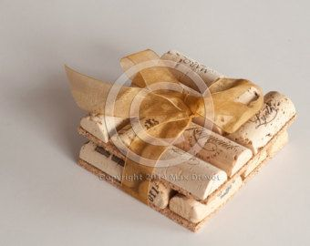 Wine Cork Coasters Set of 4 Wine Cork Crafts by MaxplanationPhotos