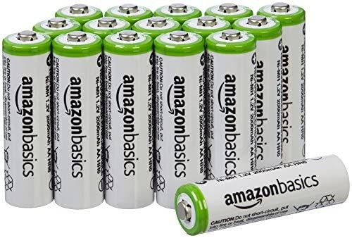 Amazon Com Amazonbasics Aa Rechargeable Batteries 16 Pack Pre Charged Battery Packaging May Vary Home Rechargeable Batteries Charge Battery Battery Shop