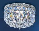 """Classic Lighting 52210-CH 7"""" Crystal Flushmount from the Crystal Baskets Collect Italian Indoor Lighting Ceiling Fixtures Flush Mount"""
