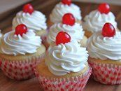 Cherry-filled Cupcakes. YUM