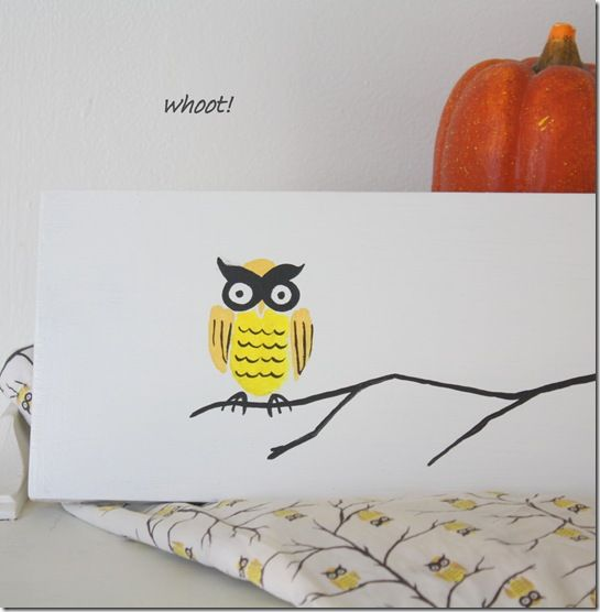 New items in Etsy shop for Fall~see this  matching, hand painted owl wall art!