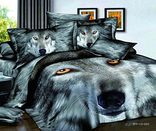 FADFAY Home Textile,3D Tiger Bedding Sets,Wolf Bedding Sets,Mens Bedding Set,Queen,4Pcs FADFAY $109.00 & FREE Shipping http://smile.amazon.com/dp/B00KYOH29E/ref=cm_sw_r_pi_dp_l5SEub0D8751J