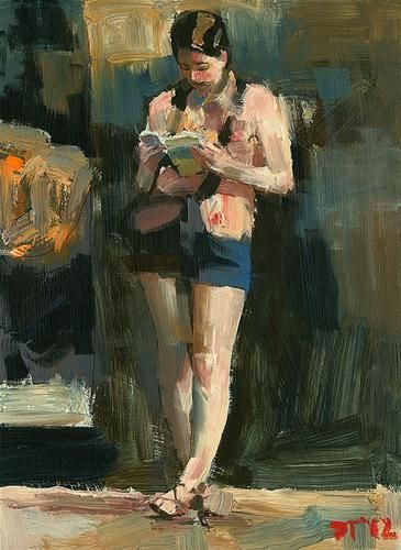 """Reader No. 45"" - Original Fine Art for Sale - © Darren Thompson"