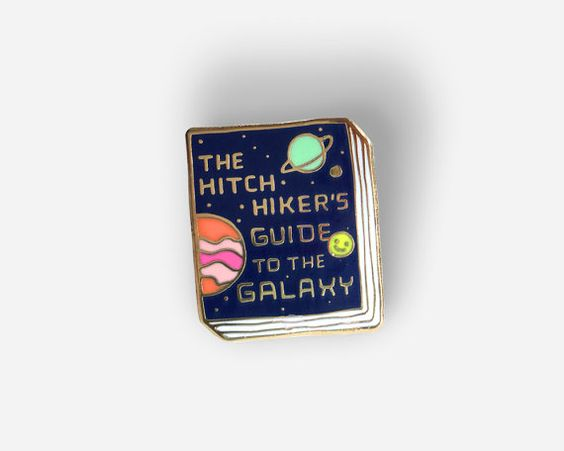 Book Pin: The Hitchhiker's Guide to the Galaxy by janemount