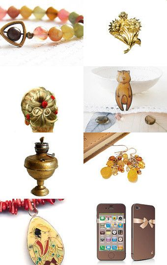 --Pinned with TreasuryPin.com #craft #art #giftguide #handmade #gifts #vintage #home #decor #fineart #toy #jewelry #fashion #shopping #treasury #etsy #earrings #yellow