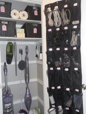 cleaning / supply closet: Closet Idea, Hall Closet, Closet Organization, Cleaning Closet, Storage Idea