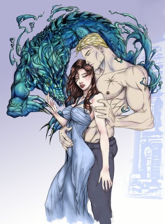 Rhage and Mary (Original art by Anyae of deviant art, color by geeport of deviant art)