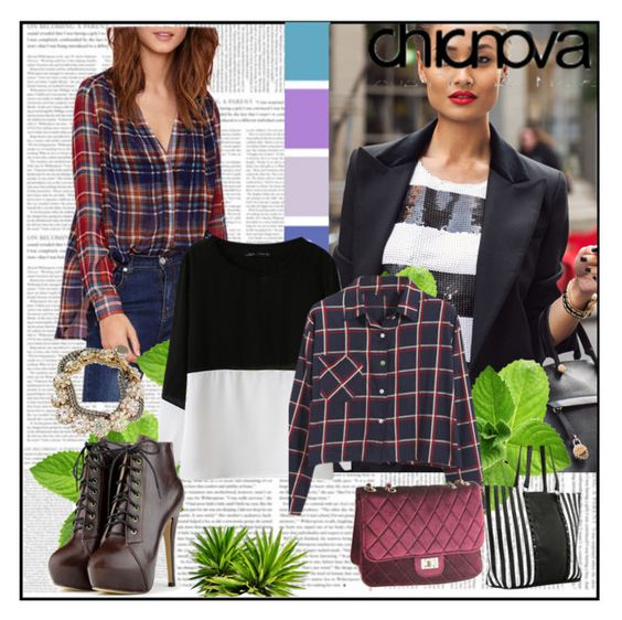 """chicnova 12"" by edita-n ❤ liked on Polyvore featuring Furla, Chicnova Fashion and chicnova"