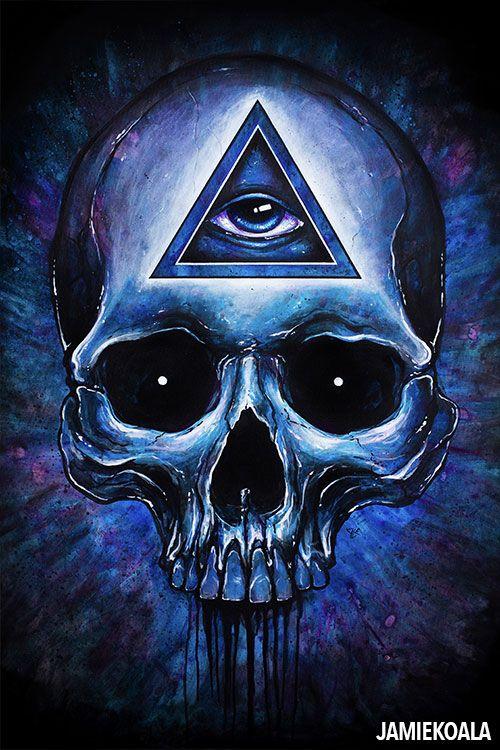 Jamie Koala Third Eye Skull Third Eye Art Art Illuminati Art