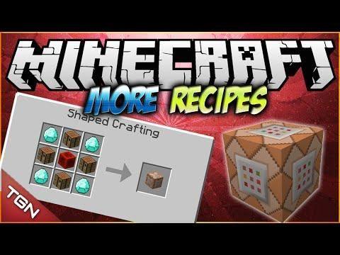 Minecraft 1 7 10 More Crafting Recipes Mod Craftea El Bloque De Comandos Bedrock Y Mas Minecraft Tips Minecraft Creations Minecraft