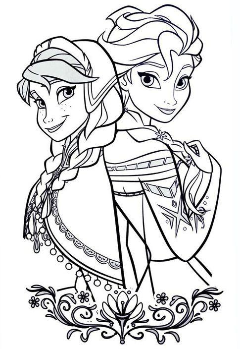 Disegni Da Colorare Principesse Disney Frozen In 2020 Elsa