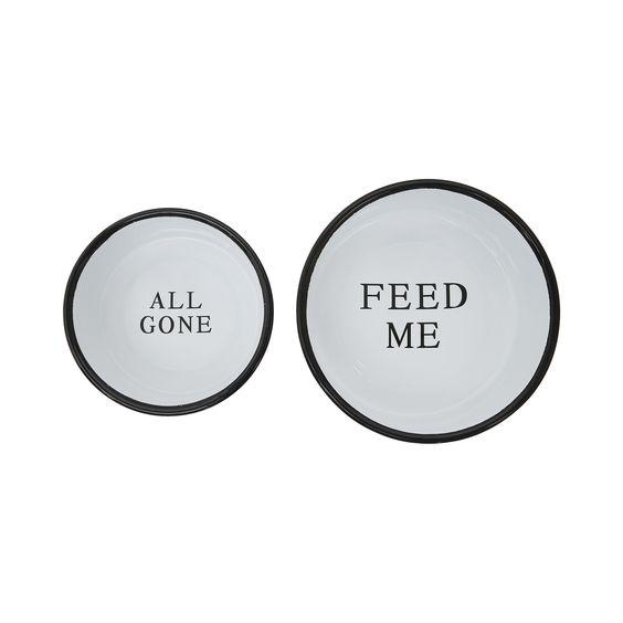 Gentle Reminder Dog Bowls - Dot & Bo