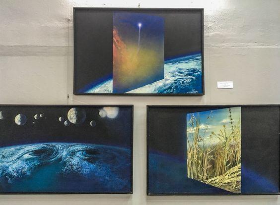 """Триптих """"Прорыв ноосферы"""", Завалий А.М., 1987г. ДВП, темпера. Фото Жени Шведы"""