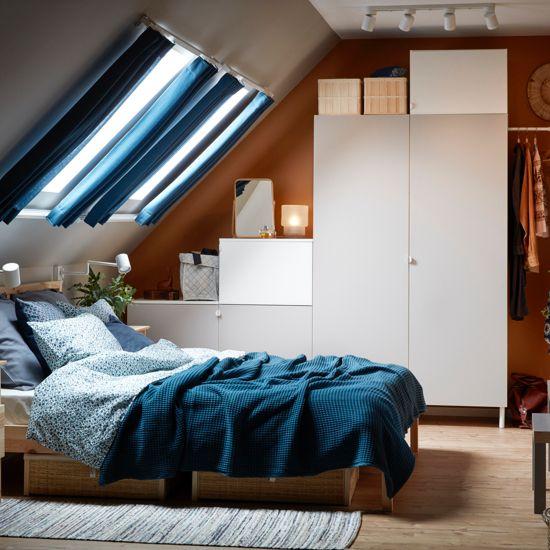 Schlafzimmer Dachschräge Ikea