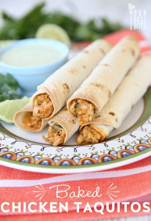 Baked Creamy Chicken Taquitos - Our Best Bites. Freeze (unbaked) & make extra for an easy meal to enjoy later! #taquito: