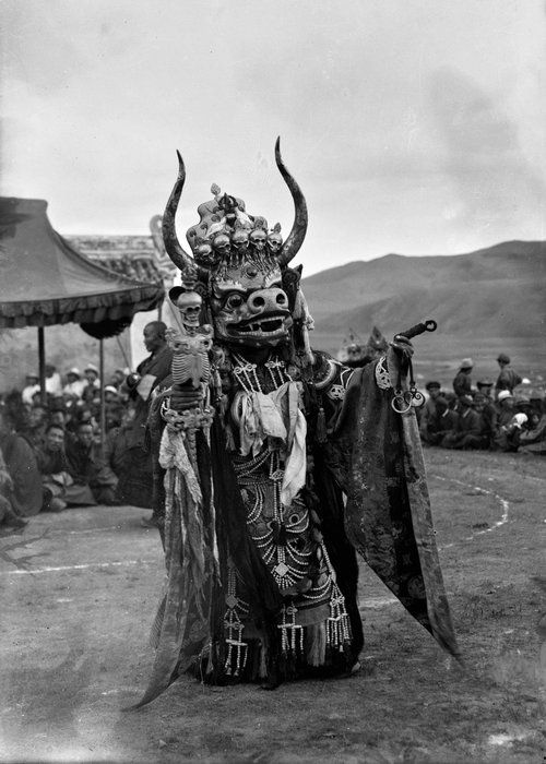 Tsam Dance at Ulaan Baator, Mongolia, 1920s. (British Museum)
