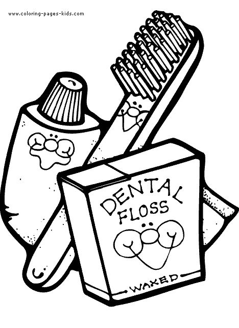 toothbrushing coloring pages - photo#29