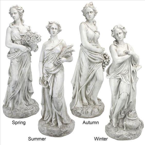 Park Avenue Collection Set Of Four Seasons Goddesses