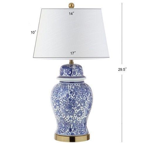 29 5 Ellis Ceramic Led Table Lamp Blue Includes Energy Efficient