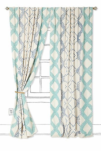 I love everything about these Ratio Curtains from #anthropologie ...