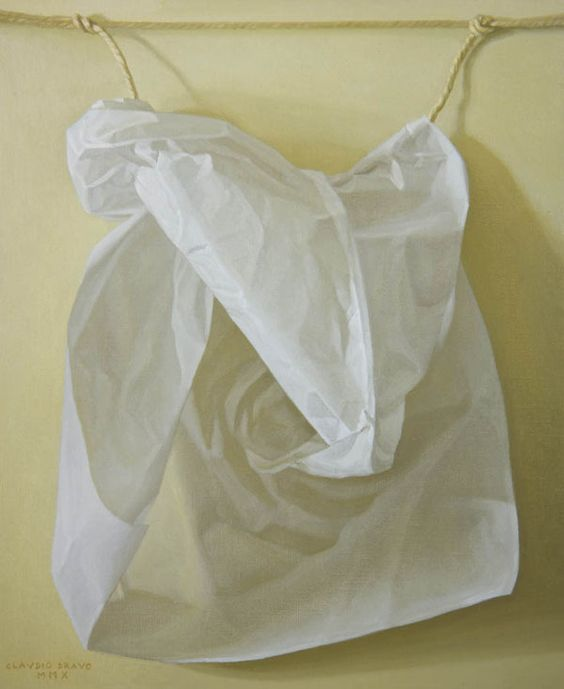 Claudio Bravo - White Paper - oil on canvas - 2010