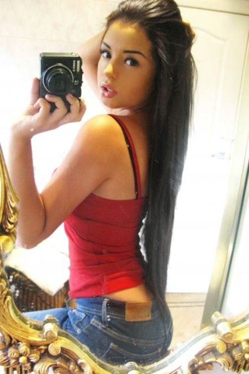Image result for hot girl on mirror