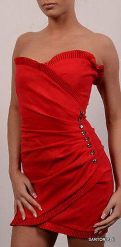 "AZZARO ""HAPPY"" Paris Red Short Cocktail Dress FR 38 NEW US 6 8"