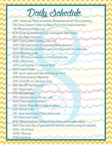 daily schedule essay