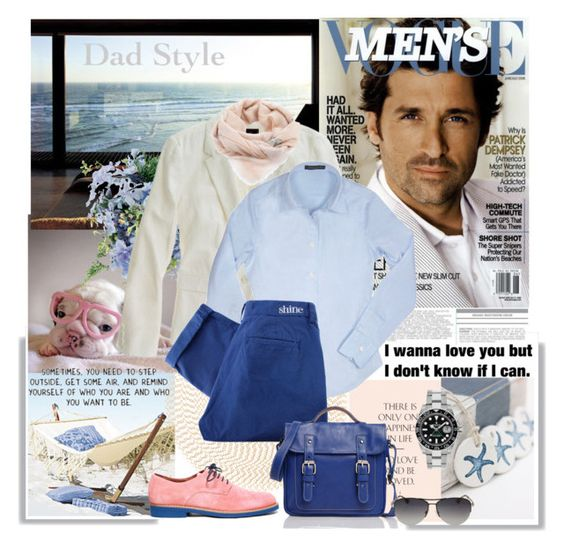 """""""young dad style..."""" by gul07 ❤ liked on Polyvore featuring Muji, Deborah Rhodes, Madewell, Forzieri, Shine, Roots, Free People, Rolex and Alexander McQueen"""